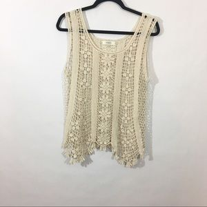 Umgee Crochet Tank Top Size M/L